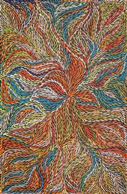 Sale 8478A - Lot 5041 - Jeannie Petyarre (c1956 - ) - Bush Yam Leaves 152 x 99cm