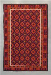 Sale 8493C - Lot 54 - Afghan Mayanana Kilim 300cm x 202cm
