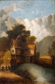 Sale 8587 - Lot 2062 - Artist Unknown (C19th) - English Village House, 1890 46 x 30cm