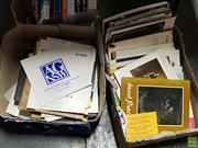 Sale 8582 - Lot 2402 - 2 Boxes of Theatre Programmes & Art Catalogues, etc