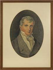 Sale 8713 - Lot 595 - After Edward Hall - Portrait of Simeon Hall 49 x 34.5cm