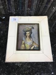 Sale 8730B - Lot 94 - Xylonite Framed Miniature L: 15.5cm