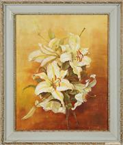 Sale 8762 - Lot 2061 - G Davies - Hibiscus flowers 43.5 x 33.5cm