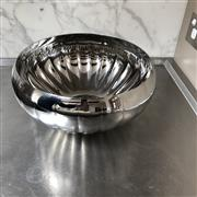 Sale 8782A - Lot 95 - A Georg Jensen gardrooned spherical fruit bowl, diameter approx 36cm
