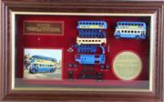Sale 8960T - Lot 7 - Framed Swan Pens LTD Edition Matchbox Car Display (32cm x 53cm)