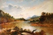 Sale 9013 - Lot 585 - George Podmore (1829 - 1916) - Near Sydney, 1893 30 x 45 cm (frame: 48 x 58 x 4 cm)