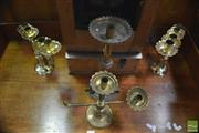 Sale 8317 - Lot 1046 - Collection Of Four Brass Candlesticks