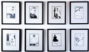 Sale 8800 - Lot 3 - A collection of 14 Aubrey Beardsley prints (13 total size with frame 32 x 27cm, and 1 total frame size 25 x 24cm)