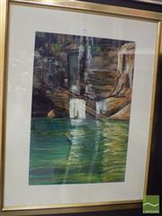 Sale 8513 - Lot 2019 - Sergio Sill - Waterfall 69 x 48cm (frame size 105 x 87.5cm)