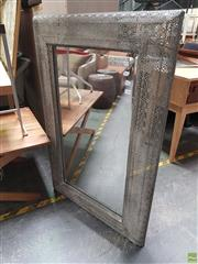 Sale 8637 - Lot 1059 - Wall Mirror with Pierced Metal Frame