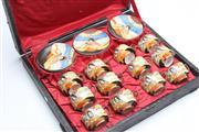 Sale 8673 - Lot 61 - Cased Satsuma Tea Suite