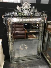 Sale 8795 - Lot 1009 - Venetian Style Bevelled Edge Mirror (151 x 102cm)
