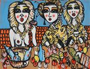 Sale 8826A - Lot 5055 - Yosi Messiah (1964 - ) - The Gathering 75 x 100cm