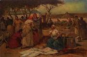 Sale 8838 - Lot 585 - Lajos Deak-Ebner (1850-1934) - Market Scene 49.5 x 74.5cm