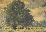 Sale 8870A - Lot 601 - Garret Kingsley (1915 - 1982) - Country Side Landscape 21 x 32 cm