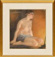 Sale 8960J - Lot 68 - Janet Cumbrae Stewart - By the Lamp Light pastel