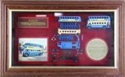 Sale 8960T - Lot 9 - Framed Swan Pens LTD Edition Matchbox Car Display (32cm x 53cm)