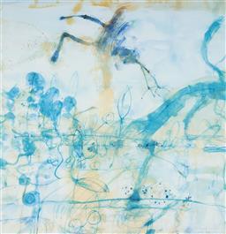 Sale 9112A - Lot 5042 - John Olsen (1928 - ) - Morning at the Lily Pond, 1997 64 x 61.5 cm (frame: 95 x 86 x 3 cm)