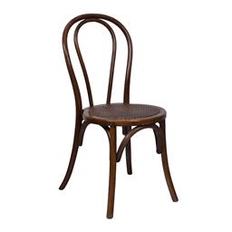 Sale 9140F - Lot 98 - Set of 8 stacking Bentwood dining chairs in warm oak with rattan seat. They are also stackable. Dimensions: W42 x D44 x H90 cm