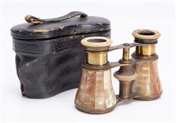 Sale 9190E - Lot 62 - A mother of pearl bound binoculars in case