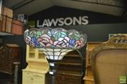 Sale 8386 - Lot 1024 - Leadlight Shade Standard Up Lamp