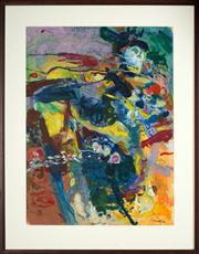 Sale 8449A - Lot 515 - Philip Trusttum (1940 - ) - Untitled (Abstract) 75.5 x 55.5cm