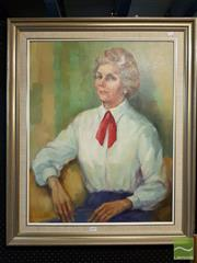 Sale 8471 - Lot 2023 - Framed Portrait of a Lady; signed Molly Garland LL