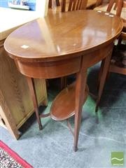 Sale 8480 - Lot 1073 - Edwardian Inlaid Mahogany Oval Occasional Table