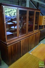 Sale 8528 - Lot 1041 - Superb Skovby Rosewood 2 Part Bookcase