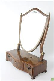 Sale 8594 - Lot 74 - Georgian Three Drawer Shield Mirror