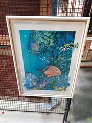 Sale 8619 - Lot 2044 - Garrett - Reef Print 620/300, 57x43.5cm