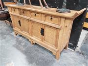 Sale 8777 - Lot 1001 - Chinese Light Coloured Oak Sideboard