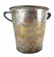 Sale 8828A - Lot 16 - Early 20th C French silver plate Moet and Chandon champagne bucket. Some small holes wear
