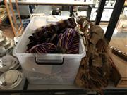 Sale 8819 - Lot 2294 - Collection of Tibean Fabric Clothing, Buka Basket, & Tribal Meck Dress