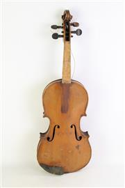 Sale 8852 - Lot 72 - A Cased Violin (Needs Repairs)