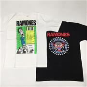 Sale 8893M - Lot 17 - Two Varied Ramones Tee Shirts, One from I Wanna Be Well Australian Tour 1991 Both Size L