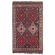 Sale 8971C - Lot 32 - Vintage Persian Qashgai Rug, Circa 1950, 155x255cm, Handspun Wool