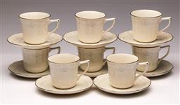 Sale 9104 - Lot 91 - A Set of 8 Noritake Ivory Lace Duos
