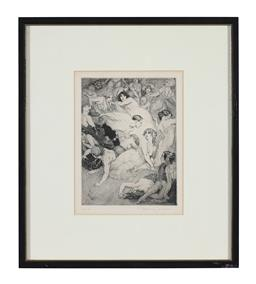 Sale 9245J - Lot 95 - Norman Lindsay - The Song 1918 signed lower right