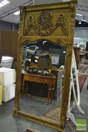 Sale 8386 - Lot 1043 - Large Heavily Carved Mirror with Floral backing