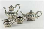 Sale 8445 - Lot 20 - Barker Silver Plated 4 Piece Tea & Coffee Set