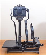Sale 8489A - Lot 84 - A vintage black painted cast iron scale, H 60cm