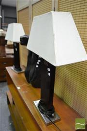 Sale 8489 - Lot 1056 - Pair of Modern Table Lamps
