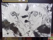 Sale 8561 - Lot 2017 - Artist Unknown - Tete-a-tete 41 x 60.5cm