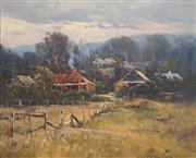 Sale 8683 - Lot 504 - John Sharman (1939 - ) - Country Scene 31.5 x 39cm