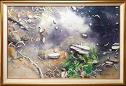 Sale 8678 - Lot 2058 - Nigel Lazenby - Foliage, 1989 watercolour, 111 x 163cm, signed lower right