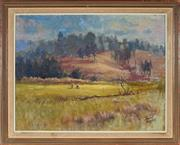 Sale 8961 - Lot 2036 - David Fowler (1924 - 1971) - On the Golf Course 49 x 58.5 cm (frame: 56 x 69 x 4 cm)