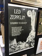 Sale 9019 - Lot 2086 - Led Zepplin Framed Poster ( 62x 93cm)