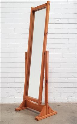 Sale 9108 - Lot 1046 - Pine cheval mirror (h:158cm)