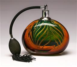 Sale 9114 - Lot 99 - A large art glass perfume atomizer (H 15cm)
